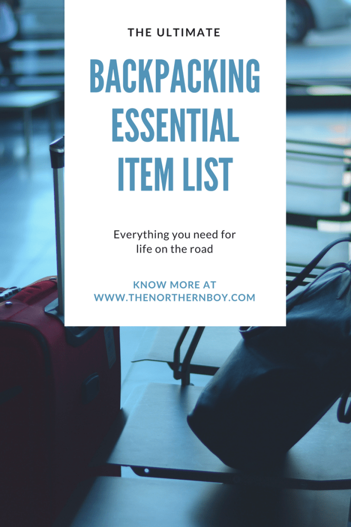 Backpacking essential item list for Asia