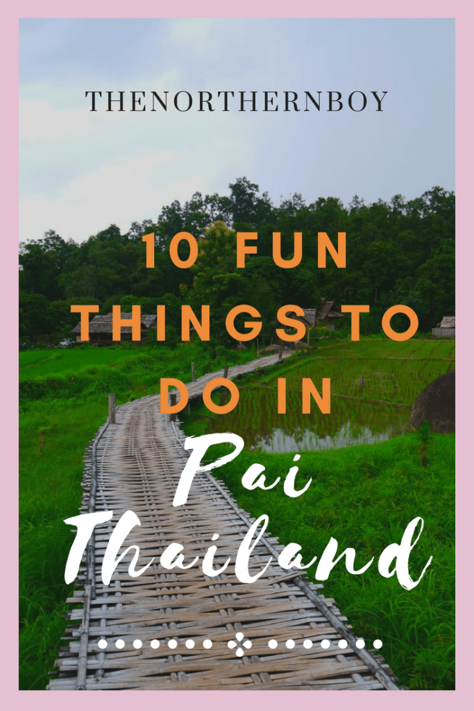 fun things to in Pai