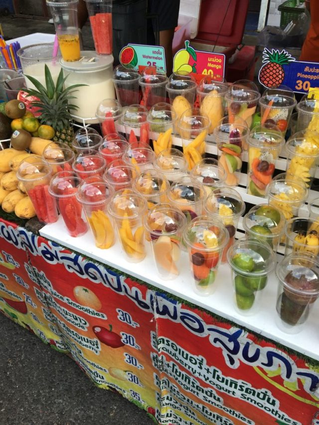 Krabi night market smoothies