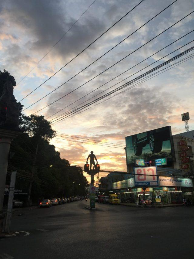krabi night market sunset