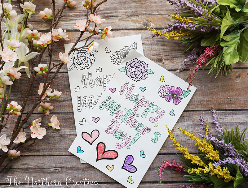 image relating to Free Printable Mothers Day Crafts identified as Moms Working day Crafts for Children and 4 Free of charge Printables The