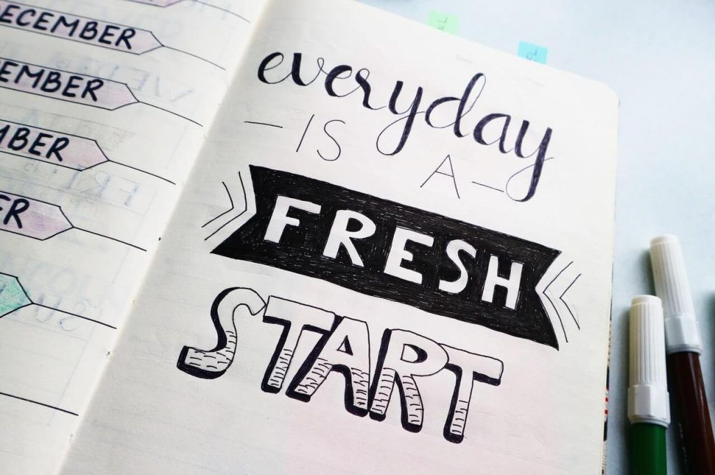 Every day is a fresh start notepad
