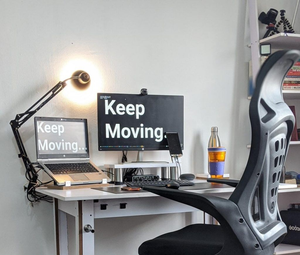 Home Office with laptop setup