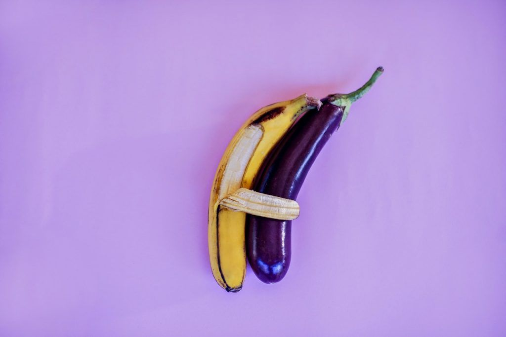 Banana and Eggplant spooning