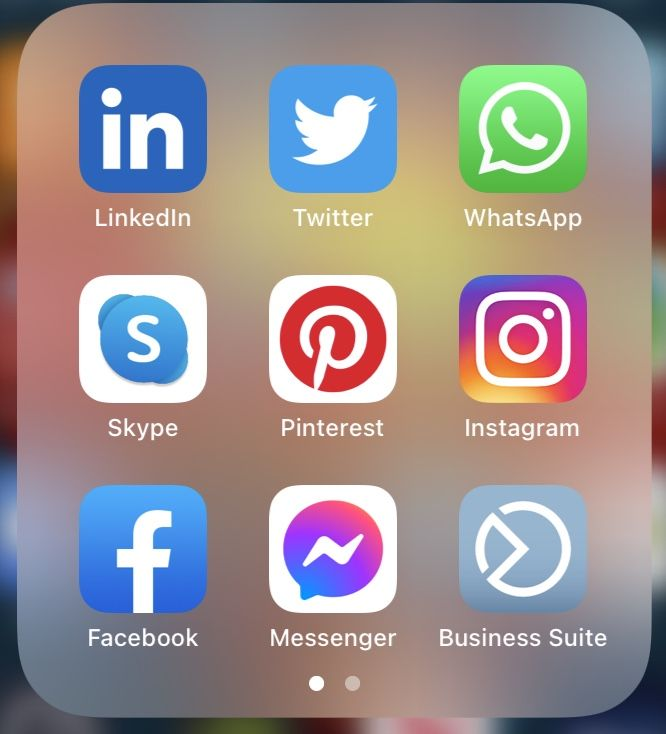 Social Media Icons on iphone