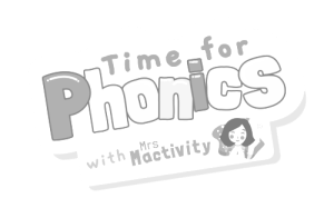 Time For Phonics Logo Greyscale