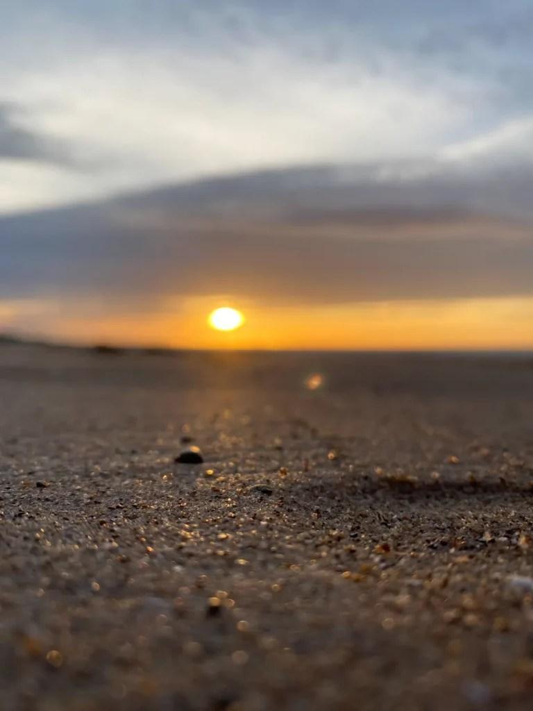 Saltburn Beach At Sundown
