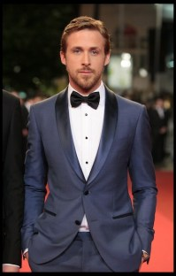 """Cannes 20 May 2011: Leading role actor Ryan Gosling wearing Montblanc studs and cufflinks at the """"Drive"""" PremiÈre."""
