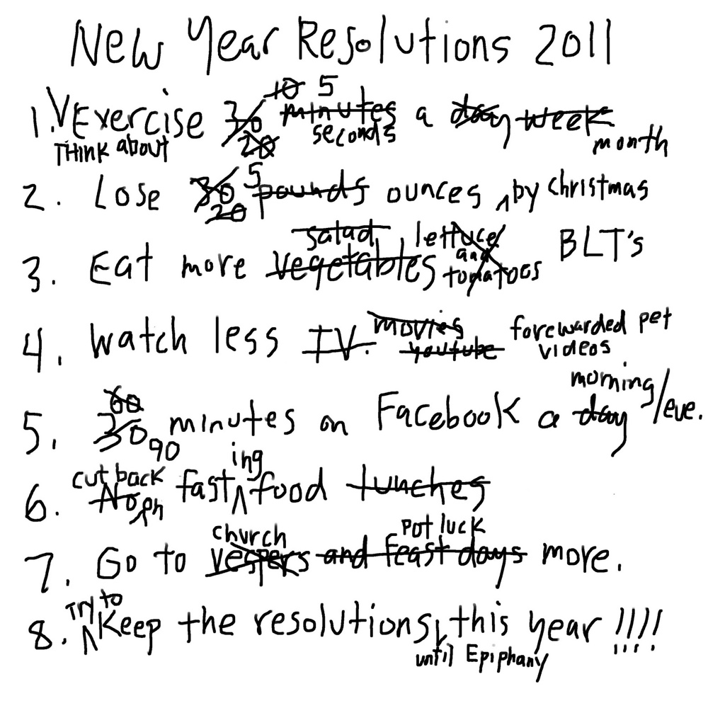 Obligatory Blog About New Year S Resolutions Sarcasm