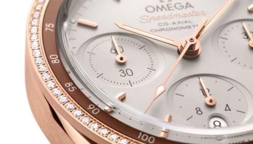 omega speedmaster 38mm 18k gold ladies watches 1
