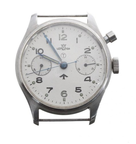 Military royal navy 1940s lemania watch