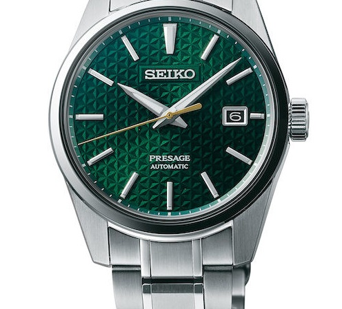 Seiko-Presage-Sharp-Edged green