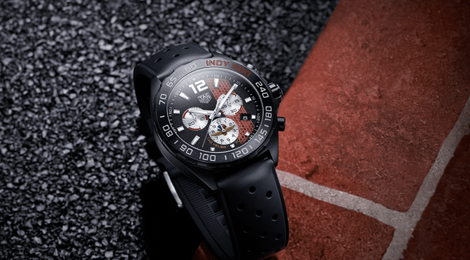 New Watches: TAG Indycar 500 Chronograph Features Brickyard Dial