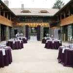 Courtyard with table seating
