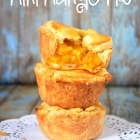 Mini Mango Pie + Flaky Pie Crust