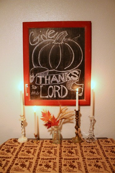 Last Year's Thanksgiving table Decor