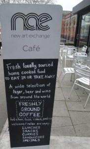 NCE Cafe Sign