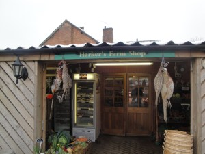 Hawkers Farm Shop entrance