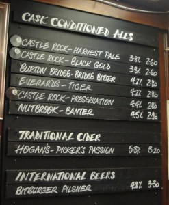 Newshouse Beer List