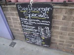 Gingham Kitchen specials board