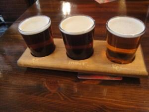 Three beer sampler