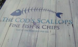 Cods Scallops Menu