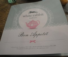White Rabbit Menu Cover