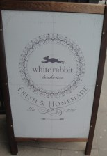 White Rabbit Signboard