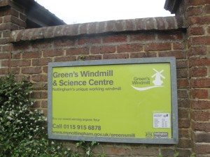 Green's Windmill and Science Centre Sign