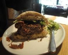 Half a Gourmet Lamb Burger