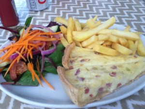 Quiche Lorraine and Chips and Salad