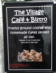 Village cafe and bistro sign