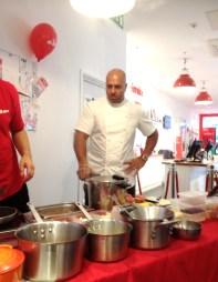 Chef Sat Bains at work