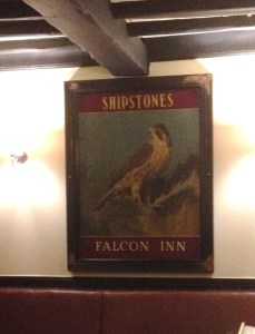 Shipstones Sign in the Falcon