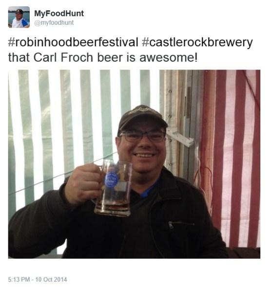 beer festival tweet