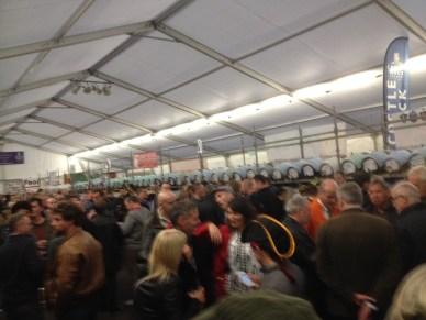 Inside top tent at beer festivak