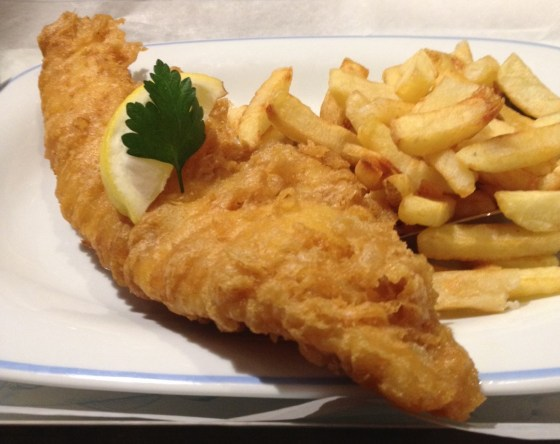 Haddock and Chips at Georges Fish and Chips Kitchen