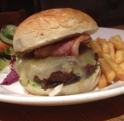 Elk Burger at the Canal House