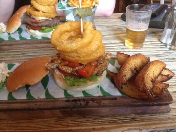 The Great Bob Marley Burger Plate