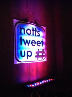 notts tweet up sign
