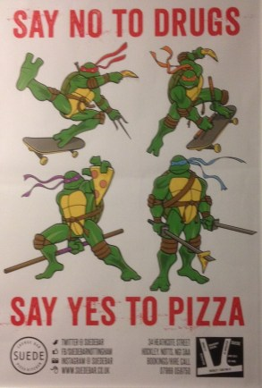 Pizza Poster at Suede