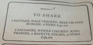 Sharing Platter Menu at Oaks in Nottingham