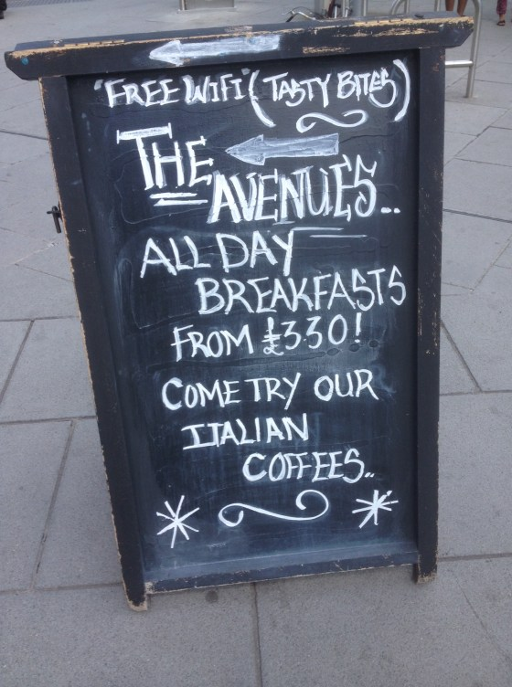 The Avenues Chalk Board