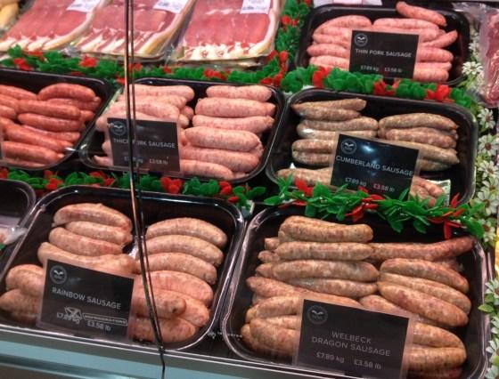 Sausages at the Welbeck Farm Shop