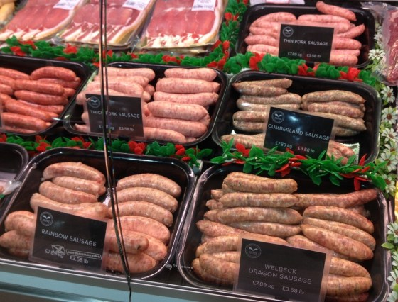 Sausages at the Welbeck Farm Shop