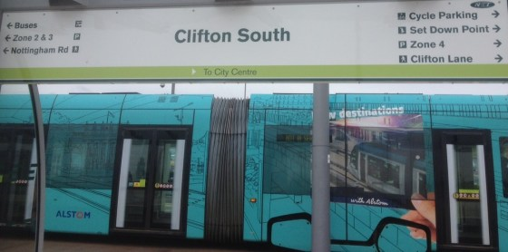 Clifton South Tram Stop
