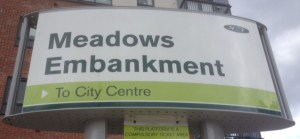 Meadows Embankment Sign
