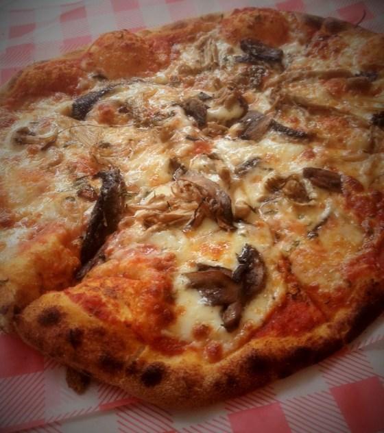 The Magic Mushroom Pizza at Oscar and Rosies