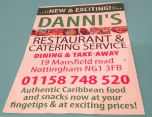 Danni's Resturant Flyer