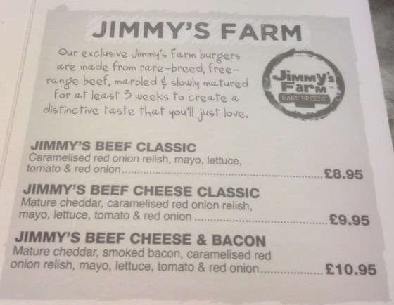 Jimmys Farm at Handmade Burger Co